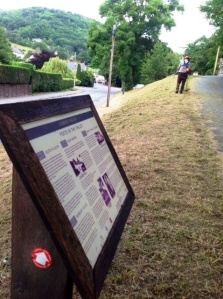Ceiriog valley poets info board