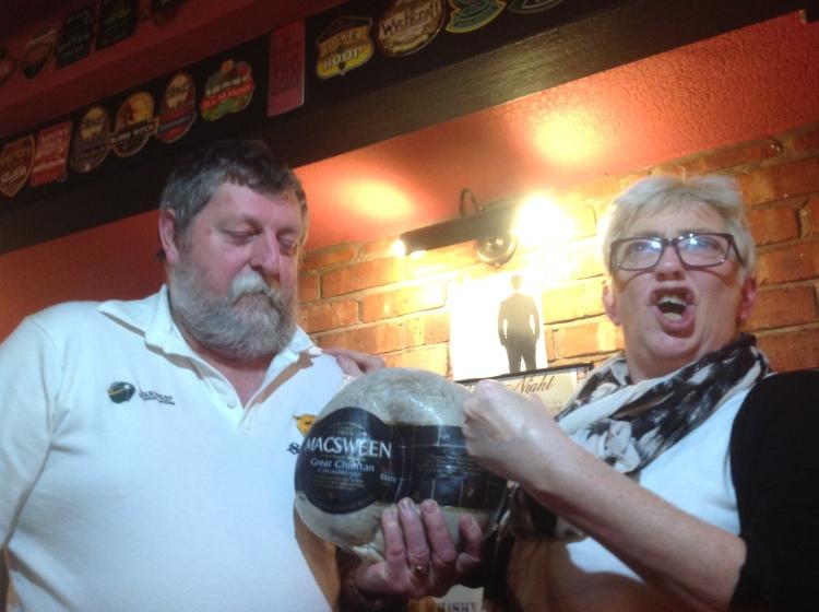 Ian and Jools Payne with Haggis for Burns night!